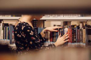 Girl browsing books
